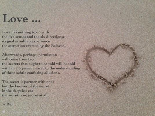 a little love ... a little Rumi